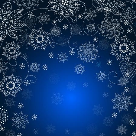 cristmas invitation card with  snowflake
