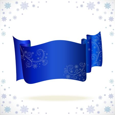 cristmas: big blue cristmas tape with freezing pattern