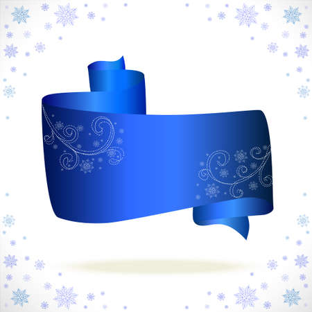 blue tape cristmas on white background  Vector