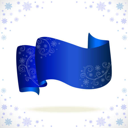 blue cristmas tape with freezing pattern  Illustration