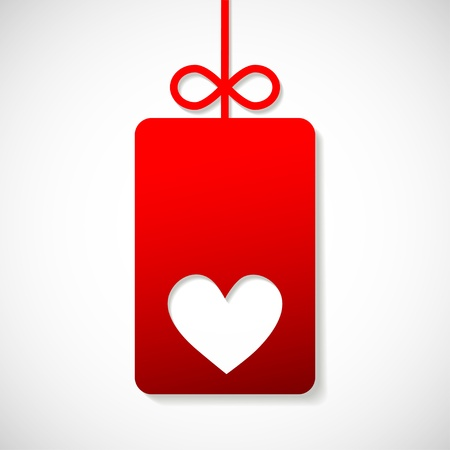 paper banner with heart for your business Stock Vector - 16560347