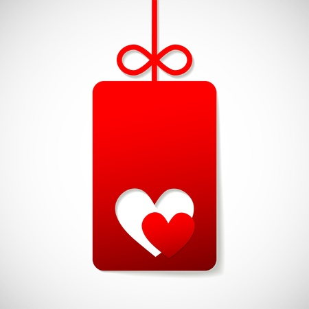 valentine s paper heart with a blank Stock Vector - 16560356