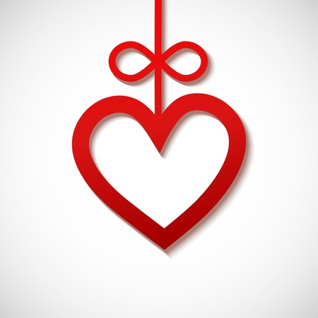 heart sliced from red paper Stock Vector - 16575966