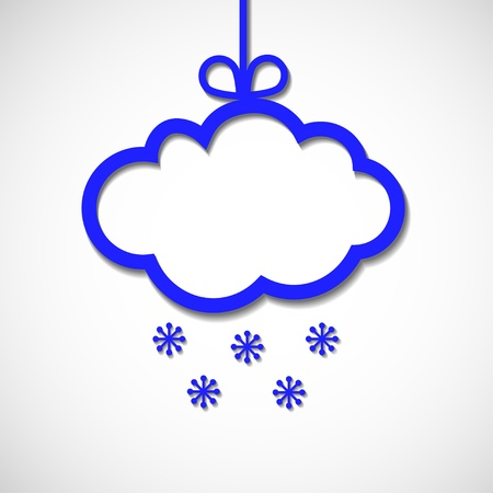 paper frame for text with snowflaks and shade Stock Vector - 16602990