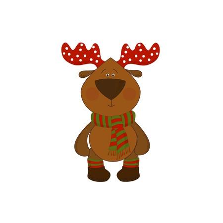 christmas deer isolated on white background Stock Vector - 16625173