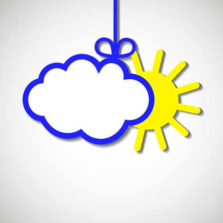 coldly: paper banner variavle cloud Illustration