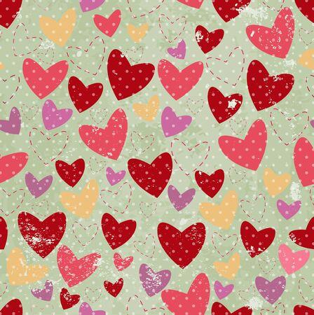 red polka dots: fondo gris con el coraz�n y punto