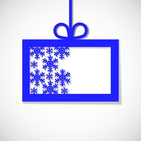 paper banner with snowflake for business Vector