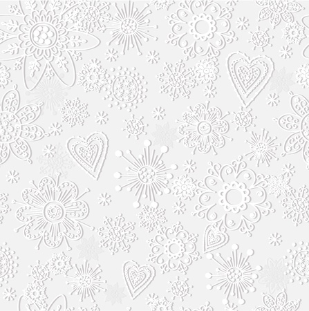 seamless pattern from paper snowflake Stock Vector - 17015771