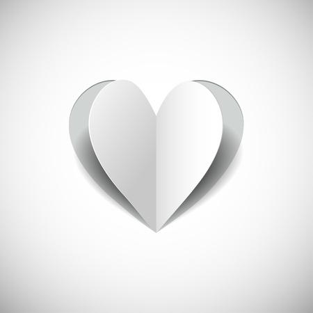 paper heart on white background jpg Stock Vector - 17015758