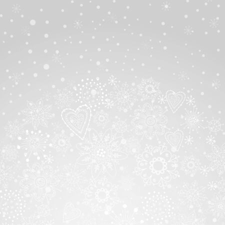 winter abstract background of the snowflake Illustration