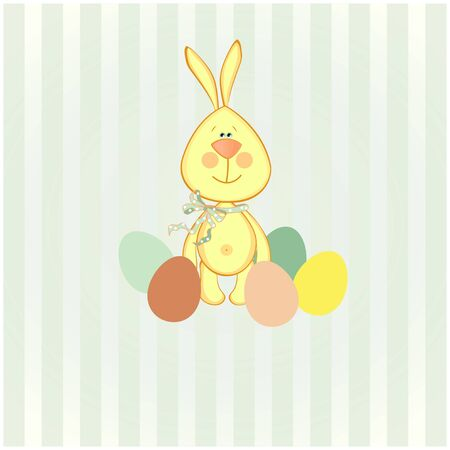vector illustration of easter bunny  Vector