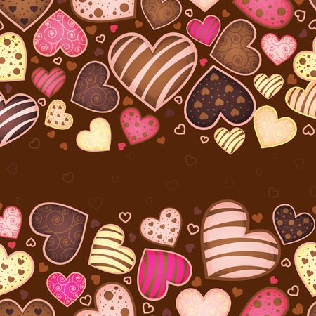 sweetmeat: invitation card with sweetmeat in form heart