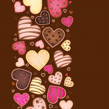 vertical background for text with sweetmeat Vector