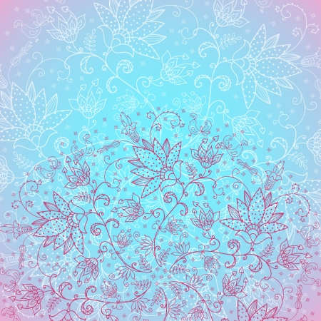 blue background for text with rose ornament Stock Vector - 17953543