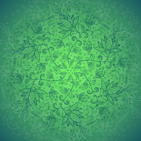 flowerses: green background with around from flowerses