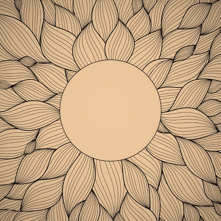 radial   hand-drawn pattern, waves background