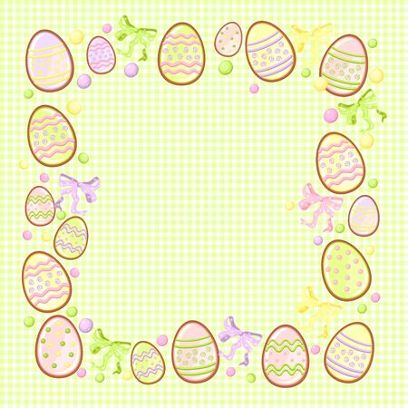 background for messages with egg green Vector