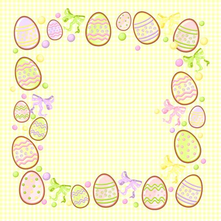 background for messages with egg yellow Stock Vector - 18160867
