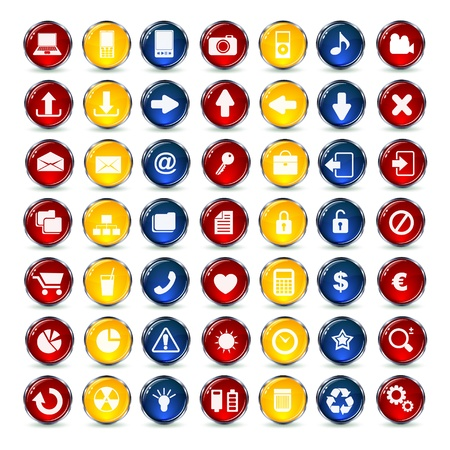 Internet and Communication icons button Stock Vector - 18904546