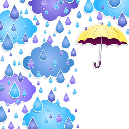 background for text with a yellow umbrella Vector