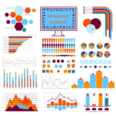 blue orange info graphics