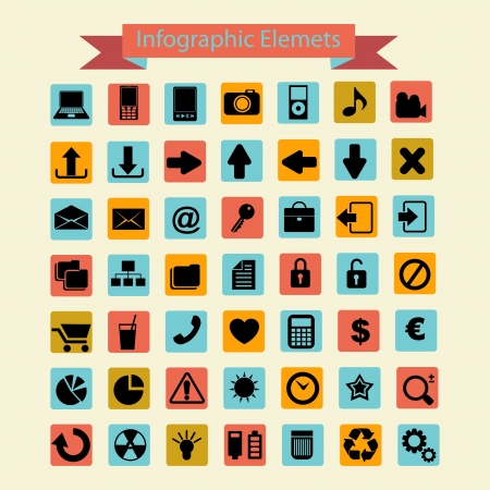 Infographics icons collection Illustration