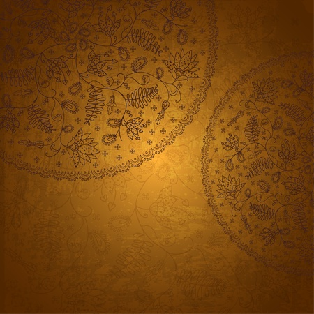 old gold background  in vintage style Vector