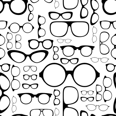 perforating: seamless pattern from glasses