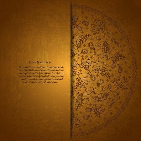 gold invitation card Vector