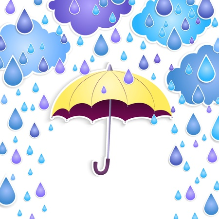 yellow umbrella: background with a yellow umbrella Illustration