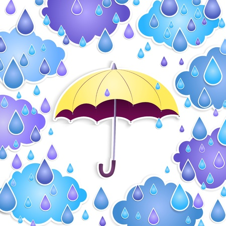 yellow umbrella: background with a yellow umbrella and drops