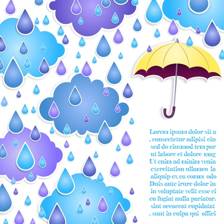 yellow umbrella: background for text with a yellow umbrella
