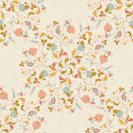 seamless stylish floral background in vintage style Vector