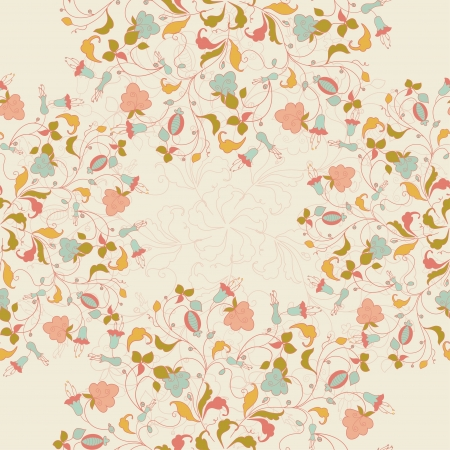 seamless stylish floral background Vector