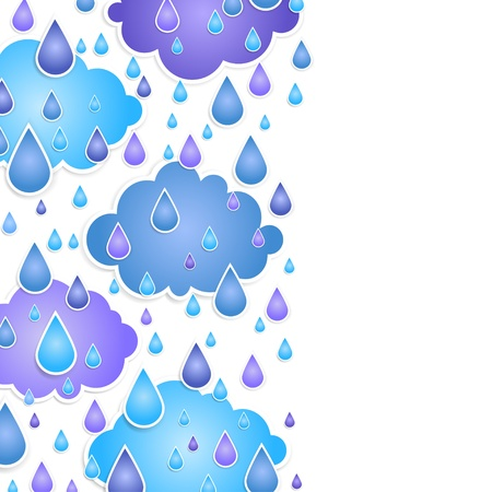 background for text with  drops of a rain Vector