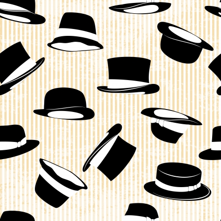 circle shape: set hat in vintage style
