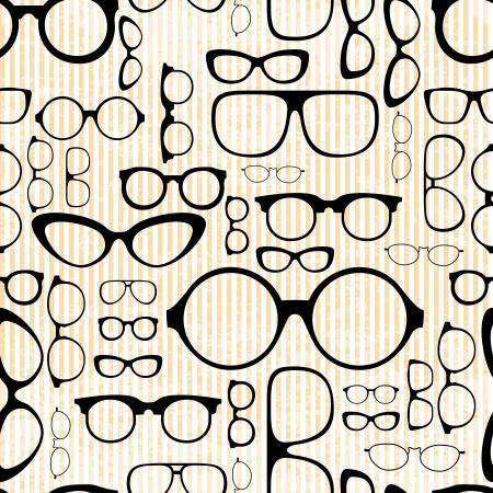 naadloze patroon van glazen in vintage stijl