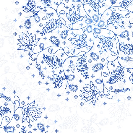blue lace background in vintage style Vector