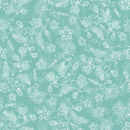 seamless flower blue background Vector