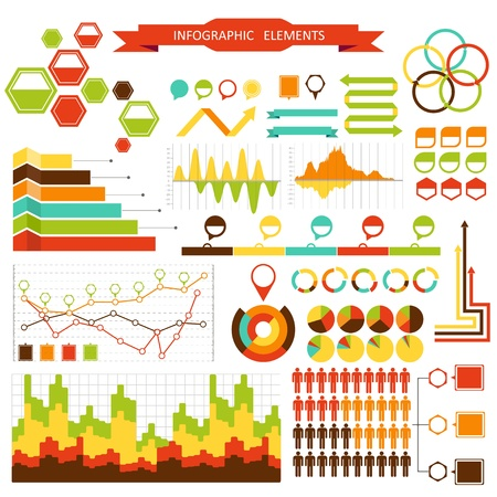 Set elements of info graphics for design Vector