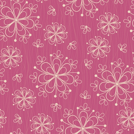 Seamless pattern with flowers on rose background Vector