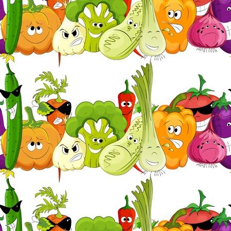 aubergine: nahtlose lustige Gem�se wei�em Hintergrund