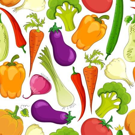 seamless funny vegetable vintage background