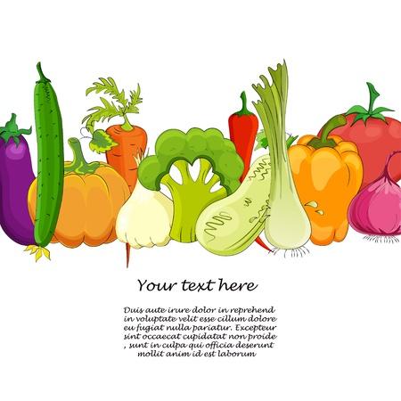 grappige groente cartoon geïsoleerd op wit Vector Illustratie