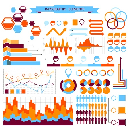 Vector info-graphic  elements set