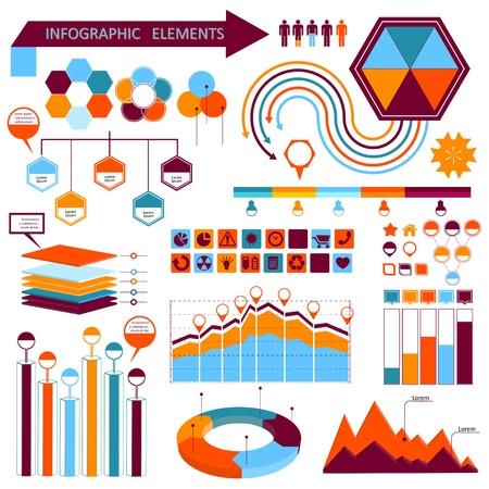 Vector info-graphic  elements set 01