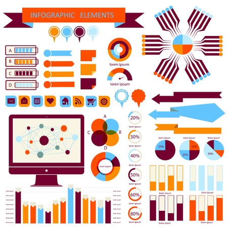 Vector info-graphic  elements set 02