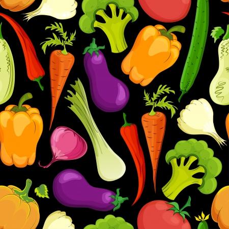 voedsel naadloze achtergrond vector illustratie Stock Illustratie