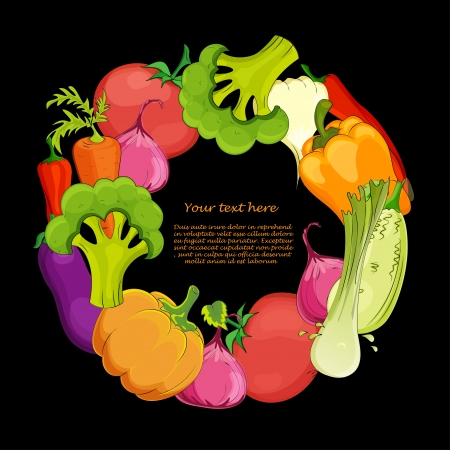 marrow: food  round background vector illustration